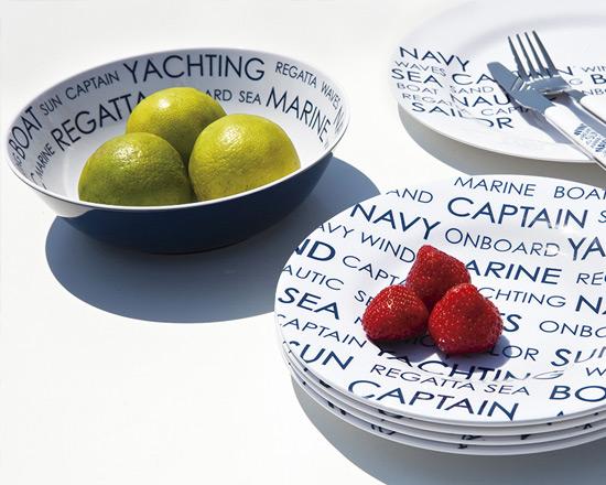 vaisselle en mélaminé antidérapante et incassable chez ydra marine à